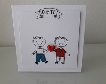 Greeting card of love or friendship for your partner or boyfriend, by request of marriage, declaration of love or anniversary