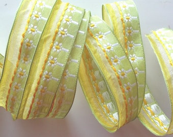 Fancy x 3 meters - embroidered sail number 1514 flower Ribbon