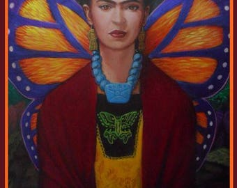 Frida Kahlo Monarch Butterfly Print