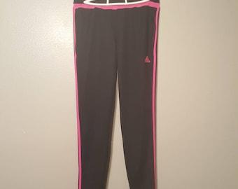 Black/Pink Striped Adidas Track Jogger Pants