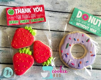 Teacher Bag Toppers, Teacher Appreciation Week, Donut You Know, Thank You, Bag Tags, Cookie Bag Toppers, Printables, Digital Download,