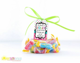 Printable Jolly Rancher Gift Tags from the Teacher to Student, Jolly Good Treat Having you as a Student Gift Tags by SUNSHINETULIPDESIGN