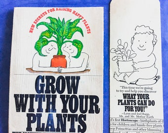 Grow With Your Plants   Snail Mail Postcard and Bookmark   Bookish, Bibliophile, Literary