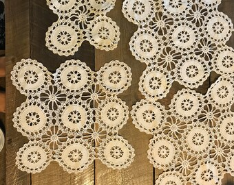 Vintage Crochet Doilies 4 piece