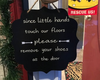 Please Remove Your Shoes Baby Sign