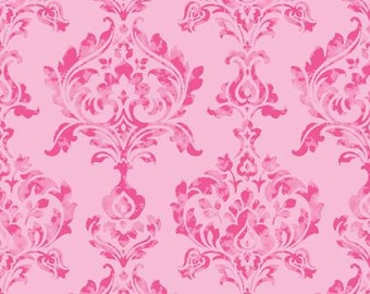 Berkshire Damask Pink by Lila Tueller for Riley Blake Designs fabric by the yard, item# C6841-R