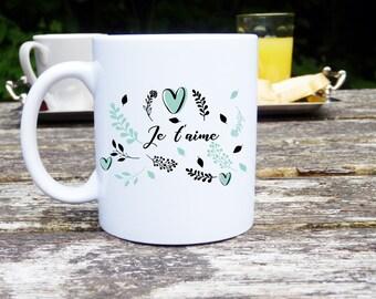 Mug love, original gift, coffee cup, Teacup mug, classic or magic, ideal Valentine's day