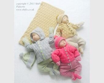 KNITTING PATTERN For Garrie Jacket, Pants, Hat & Blanket in 2 Sizes PDF 217 Digital Download