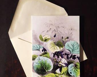 Violette (Violet): Greeting Card