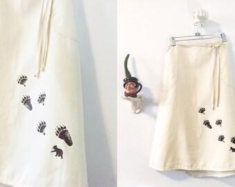 Bear Paw Wrap Skirt Size Large