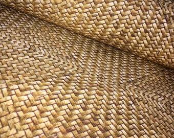 Beige SISAL PRINT Digital Curtain upholstery Fabric Material - 160cm wide