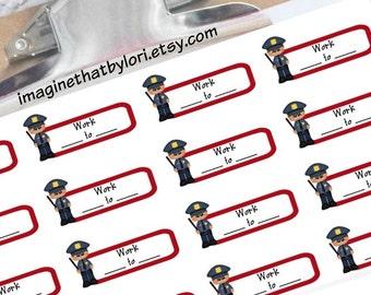 Police schedule planner stickers for your Erin Condren planner