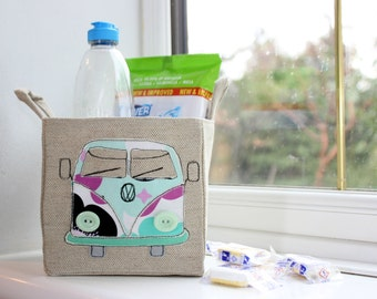 Kitchen Storage Basket, kitchen tidy, cleaning basket, windowsill storage, storage bin, VW campervan, small storage bin, fabric basket