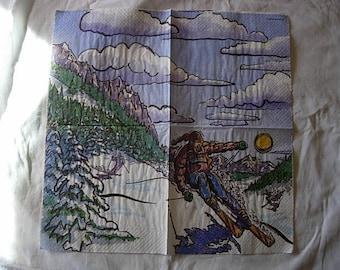 Skier napkin
