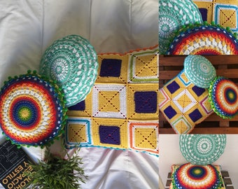 Catches dreams and mandalas made with crochet