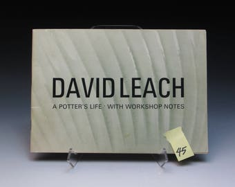 Autographed David Leach Monograph, David Leach Profile Pamphlet, 1977, Introduction by Bernard Leach