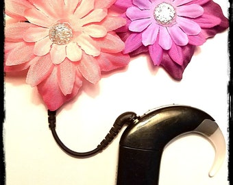 Cochlear Cuties:  Beautiful Flower Blossoms!  Please select quantity 2 for a pair!