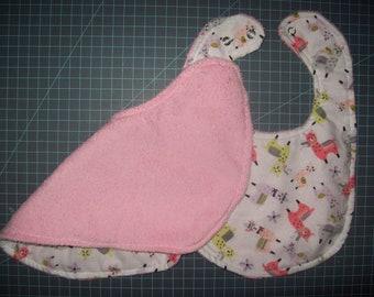 Super Absorbent Llama Burp Cloth, Bib, or Set