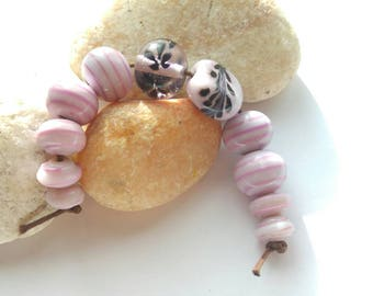 Pink Mix Lampwork Bead Set SRA