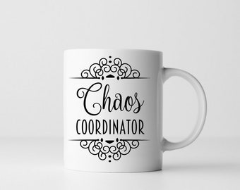 Chaos Coordinator svg cut file for cricut or silhouette comes with jpg png and svg