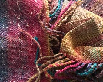 Handwoven multicoloured scarf