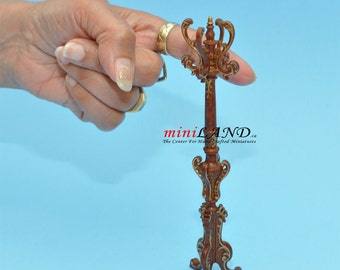 Victorian coats and hats rack stand dollhouse miniature 1:12 scale Walnut V4034