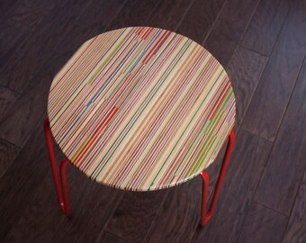 Recycled Skateboard Side Table