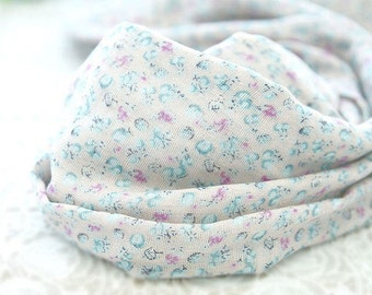 "Flower Cotton Double Gauze Fabric - Pink - 58"" Wide - By the Yard 82907"