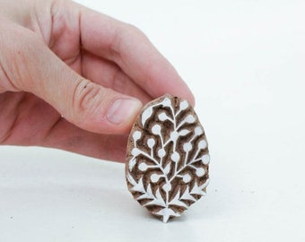 50% off Hand Carved Stamp Flower 115