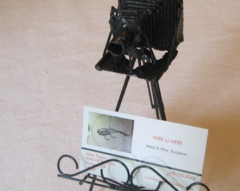 Wire and Metal 4X5 Camera, Business card holder