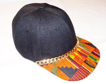 Kente Gold chain Baseball hat