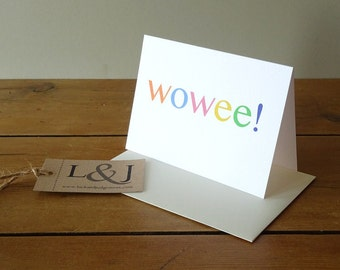 Best Friend Card - Wow - Blank Greeting Card - All Occasion Card - Surprise Card - Any Occasion Card - Awesome - Greeting Card - Blank Card