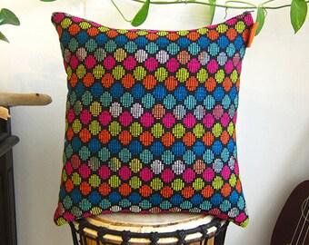 Colorful Throw Pillow POLKA DOT - Rainbow Cushion Cover - Housewarming Gift