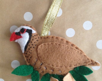 Partridge In A Pear Tree Christmas Decoration