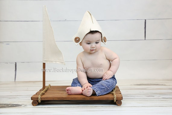 Sailor prop boy girl newborn photography props toddlers prop raft wooden props newborn photography props beach props pirate boat props from