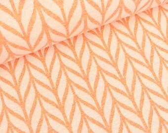 Hamburg love 2 color Jacquardjersey melange knit Maxi patio white (26.50 EUR / meter)