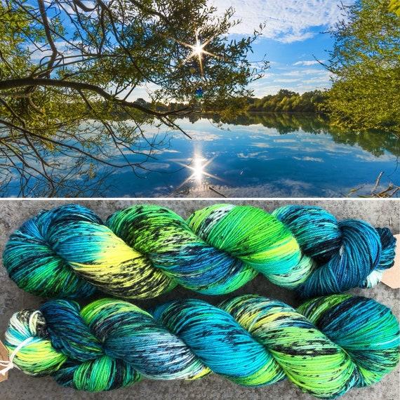 Hidden Reeds BFL, bluefaced leicester nylon sock yarn