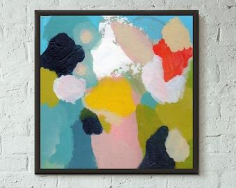 Don't Stop No. 2 of 10 // Modern Abstract Art Original 8x8 Mixed Media Acrylic Painting on Canvas Panel, Free US Shipping, Lisa Barbero