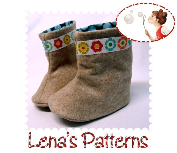 Baby Boots Sewing Pattern. Instant download PDF Baby Shoes Pattern ...