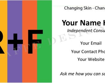 Customizable Business Card for Skincare Consultant Box - DIGITAL FILE
