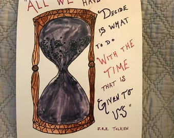 Time Watercolor Print