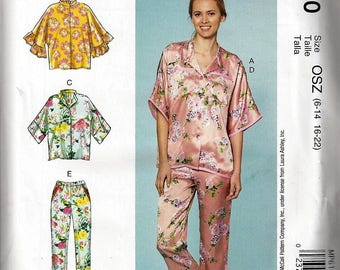 McCALLS  LAURA ASHLEY M7696 Misses' Lounge Tops, Shorts and Pants Misses Sz6-22 New Uncut