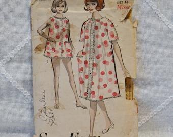 Vintage Advance 2918 Sewing Pattern Misses Pajamas Nightgown Robe Size 16 Crafts  DIY Sewing Crafts PanchosPorch