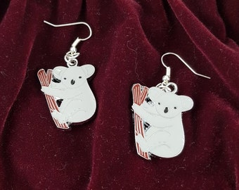 Koala Enamel Earrings