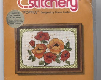Poppies - Jiffy Stitchery Counted Cross-Stitch Kit