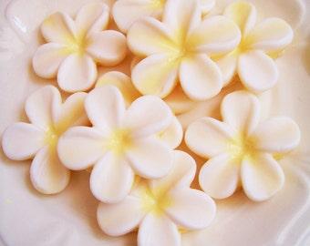 Plumeria Soap Set - Flower Soap, Frangipani Soap, Wedding Favors, Bridal Shower, Soap Favors,  Hawaiian Flower Soap, Hawaii Soap, Beach Soap