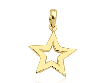 Star 14k Solid Gold Pendant Best Price
