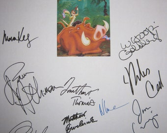 The Lion King Signed Film Movie Script Screenplay X14 Autographs Jonathan Taylor Thomas Matthew Boderick James Earl Jones Jeremy Irons