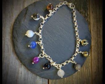 Personalized Charm Gemstone Bracelet