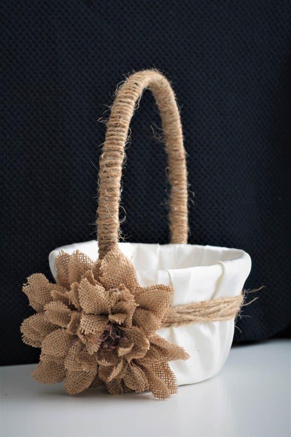 Rustic Wedding Basket Rustic Flower Girl